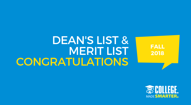 Dean's and Merit List Fall 2018 QCC
